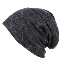 Men's wool and velvet knitted hat ear protection warm hat