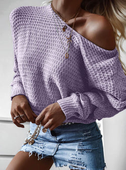 Casual round neck bottoming long-sleeved sweater