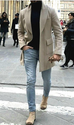 Fashion Causual Gentleman Outerwear Coat