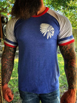 Chief color-block printed short-sleeved T-shirt