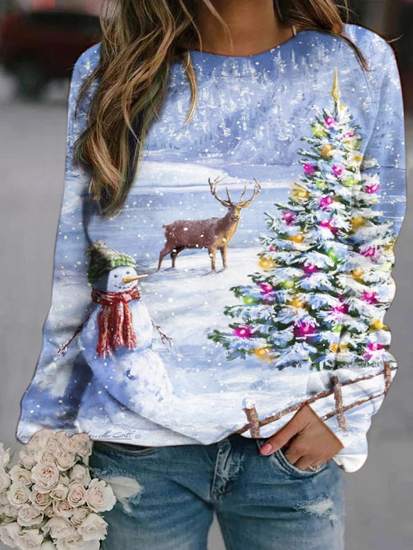 Merry Christmas Printed Sweatshirt