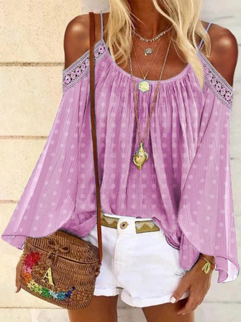 Romantic Sweet Lace Polka Dot Camisole Top