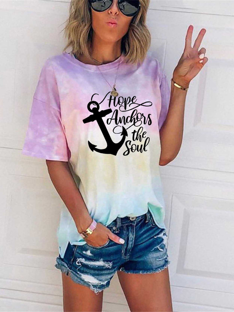 Hope Anchors The Soul tie-dye T-shirt