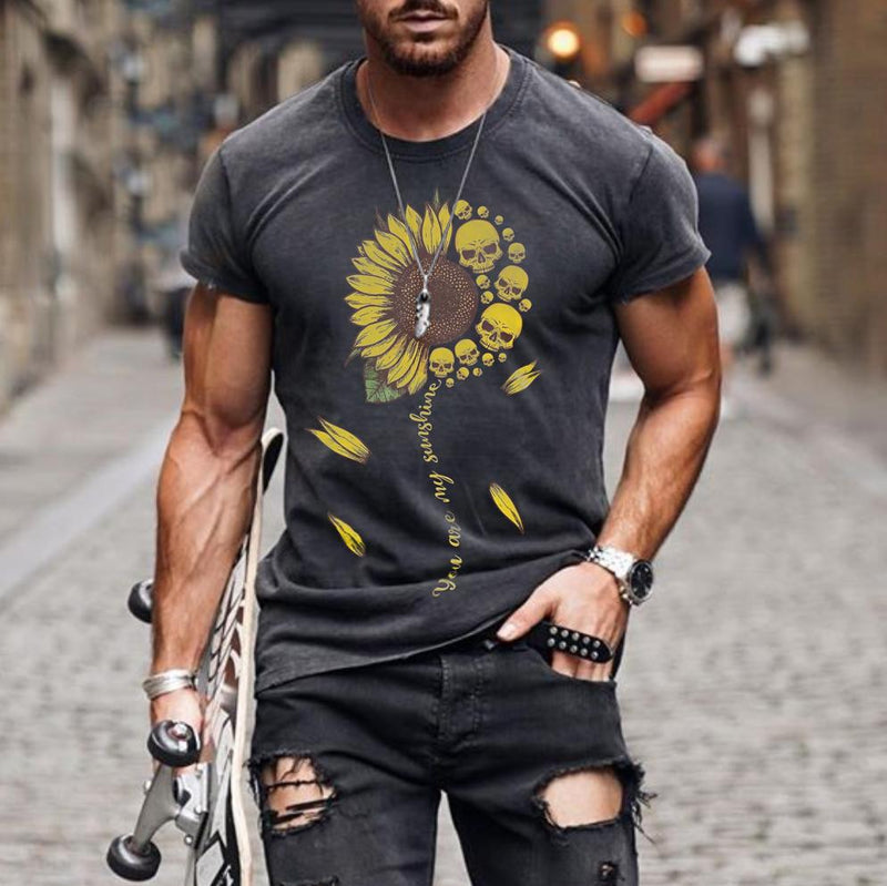 Fashion Sunflower Short Sleeve T-shirt
