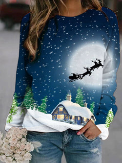 Xmas Eve Printed Christmas  Sweatshirt