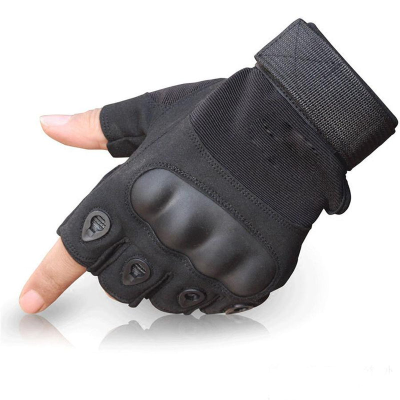 Half finger gloves mens tactical anti-cut outdoor sports t