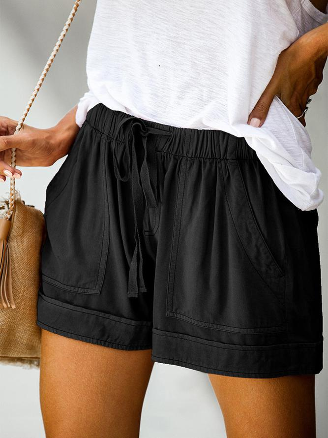 Fashion Women Summer Casual Plain Shorts