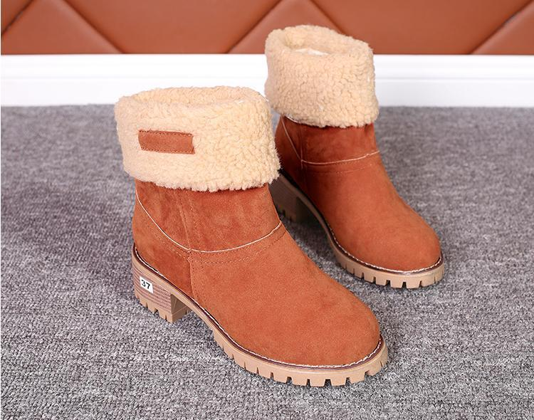 2020 Winter High Heel Short Booties For Ladies