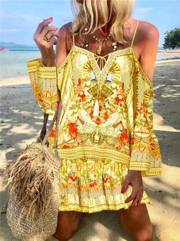 Romantic Vintage Bohemian Loose Strap Dress