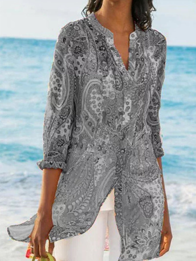 Bohemian Vacation Casual Long Shirt