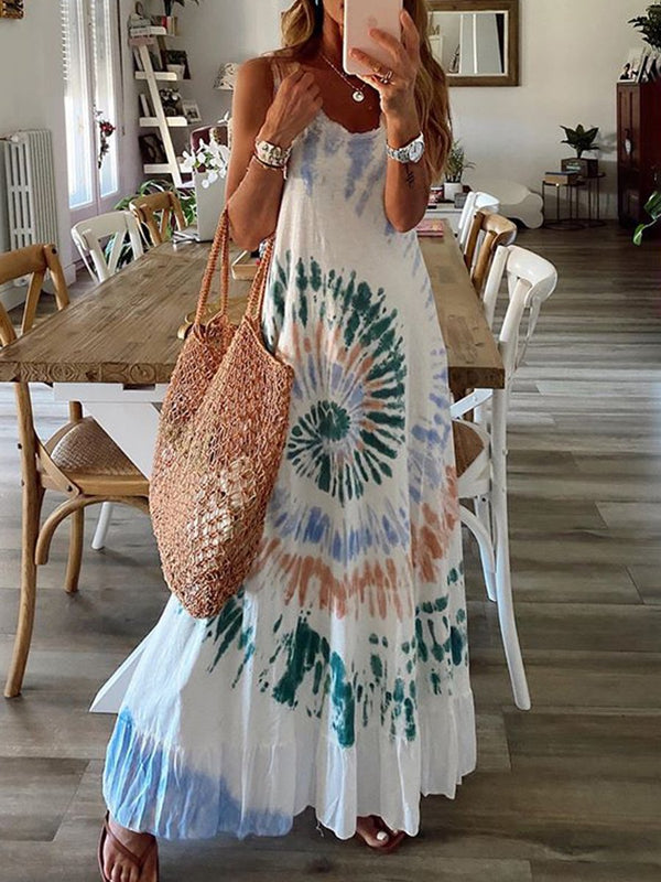 Casual Fashion Vest Maxi Dress for Vacation