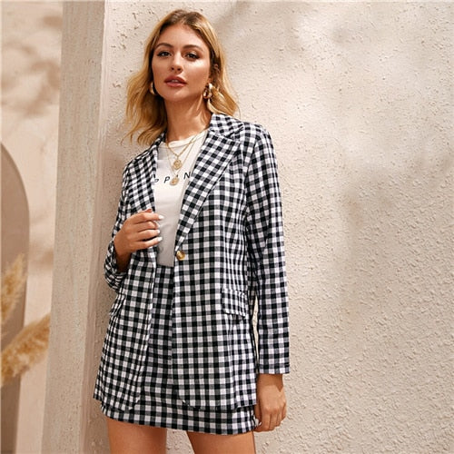 Black And White Gingham Print