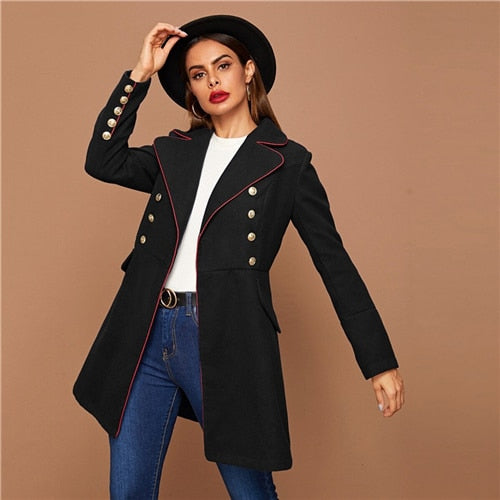 Black Lapel Collar  Coats