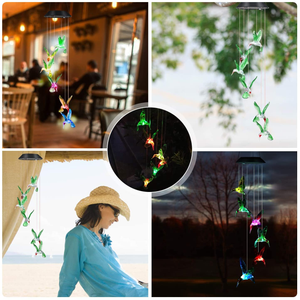 50% OFF-Solar-Powered Dangling Hummingbird Lights-Buy 2 Free Shipping
