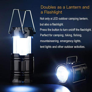(50%OFF)3-in-1 Portable Outdoor LED Flame Lantern Flashlight-Buy 2 Free Shipping