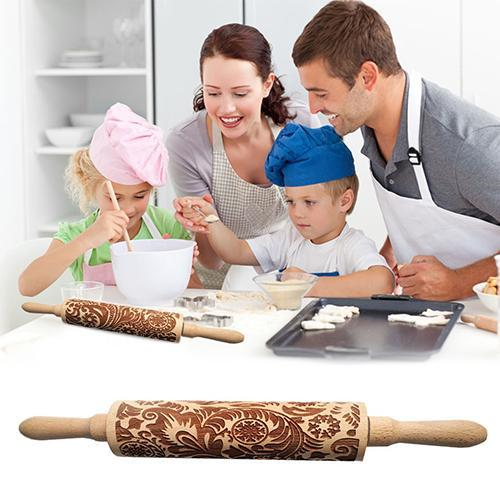 💕 50% Off💕-Christmas 3D Rolling Pin-Buy 2 Free Shipping