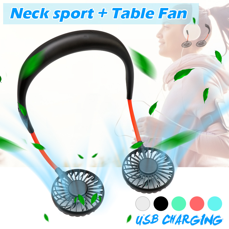 (50% OFF)2020 New Rechargeable Portable Neck-strap Fan-Buy 2 Free Shipping