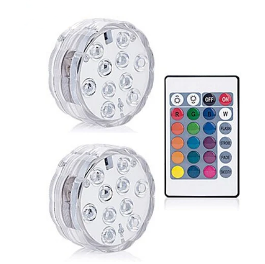 💥50% OFF💥Submersible LED Pool Lights Remote Control (RF)-Buy More Free More