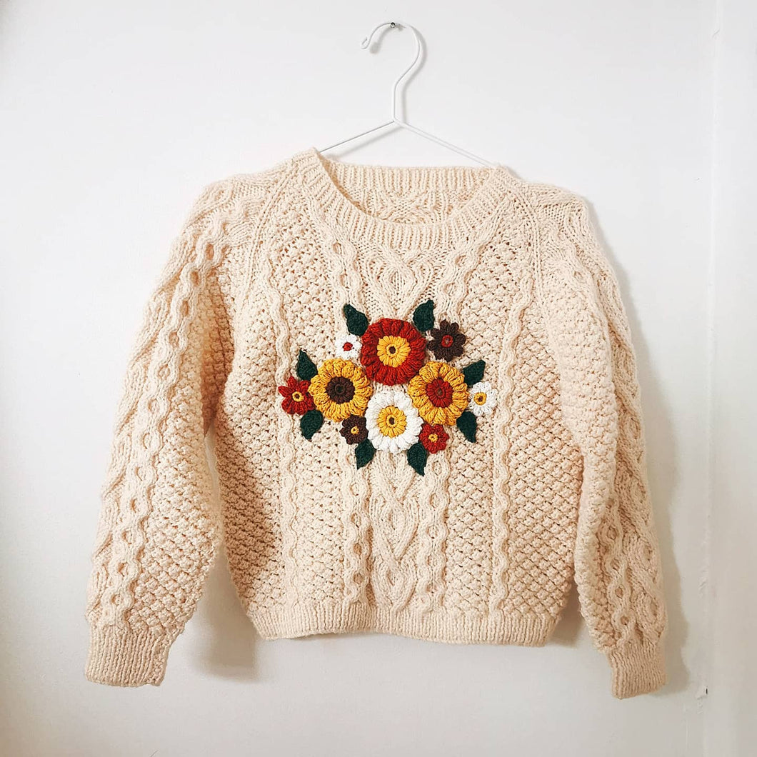 70's floral jumper (10-12 years)
