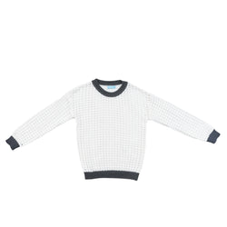 Squared knit sweater-2022WH