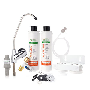 Alkalizer Twin Snapseal Under Sink Water Filter System