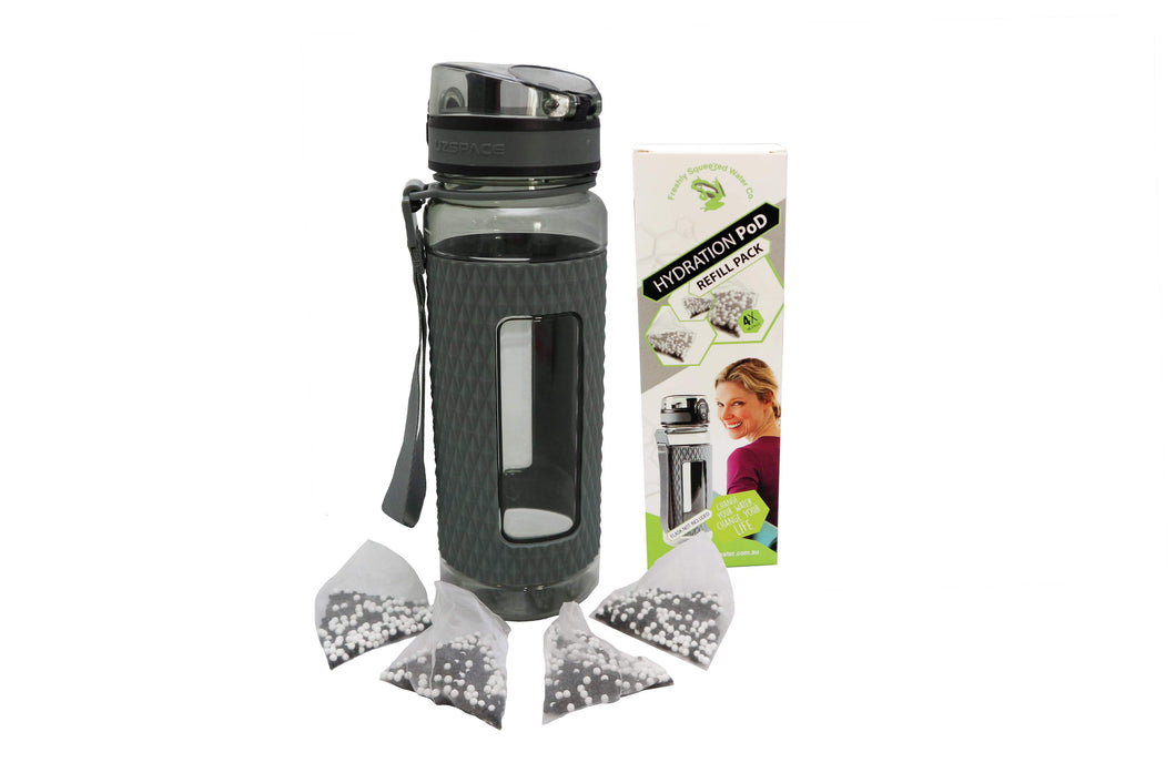 Hydration Flask & Alkalizer Pod Set