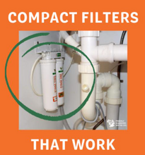 Load image into Gallery viewer, Water Filter system that fits under the sink. The Premium is a two stage snapseal unit compact and effective.