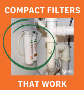 Water Filter system that fits under the sink. The Premium is a two stage snapseal unit compact and effective.
