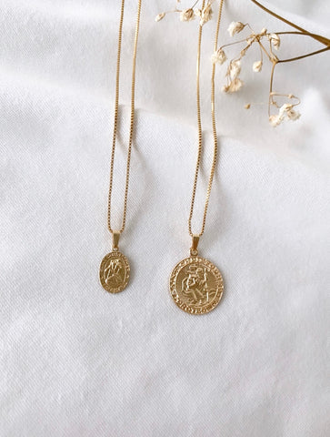 st Christopher Medallion Necklace