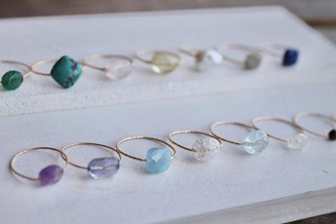 gemstone rings by erijewelry