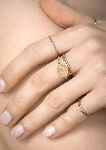 Quartz Rings Gold Filled Jewellery