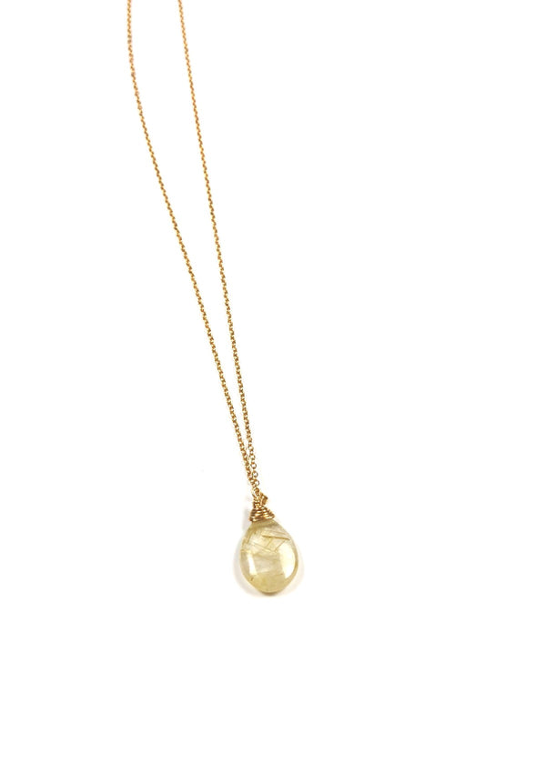 Rutile Quartz One Drop Necklace