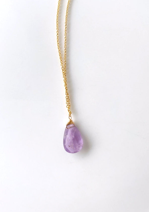 Gemstones Amethyst Jewelry Necklace Gold Filled by Australian Jewelry Shop by ERIJEWELRY