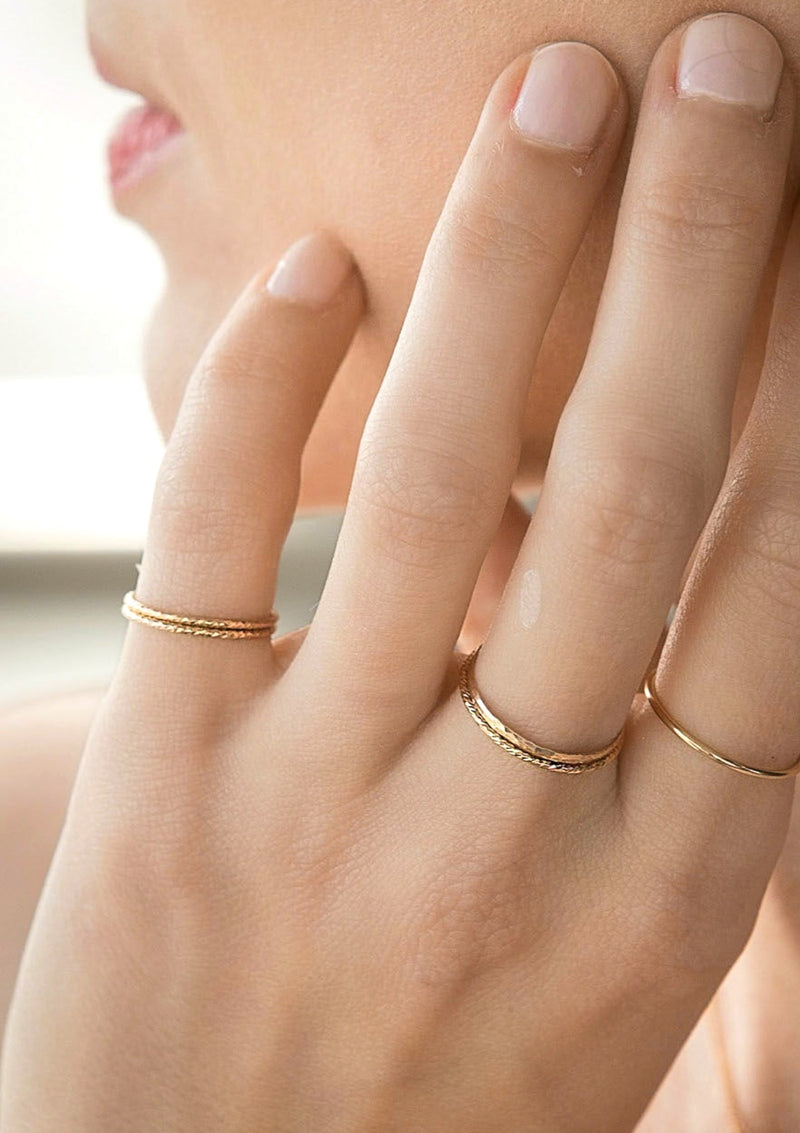Minimalist Sparkle Stacking Ring