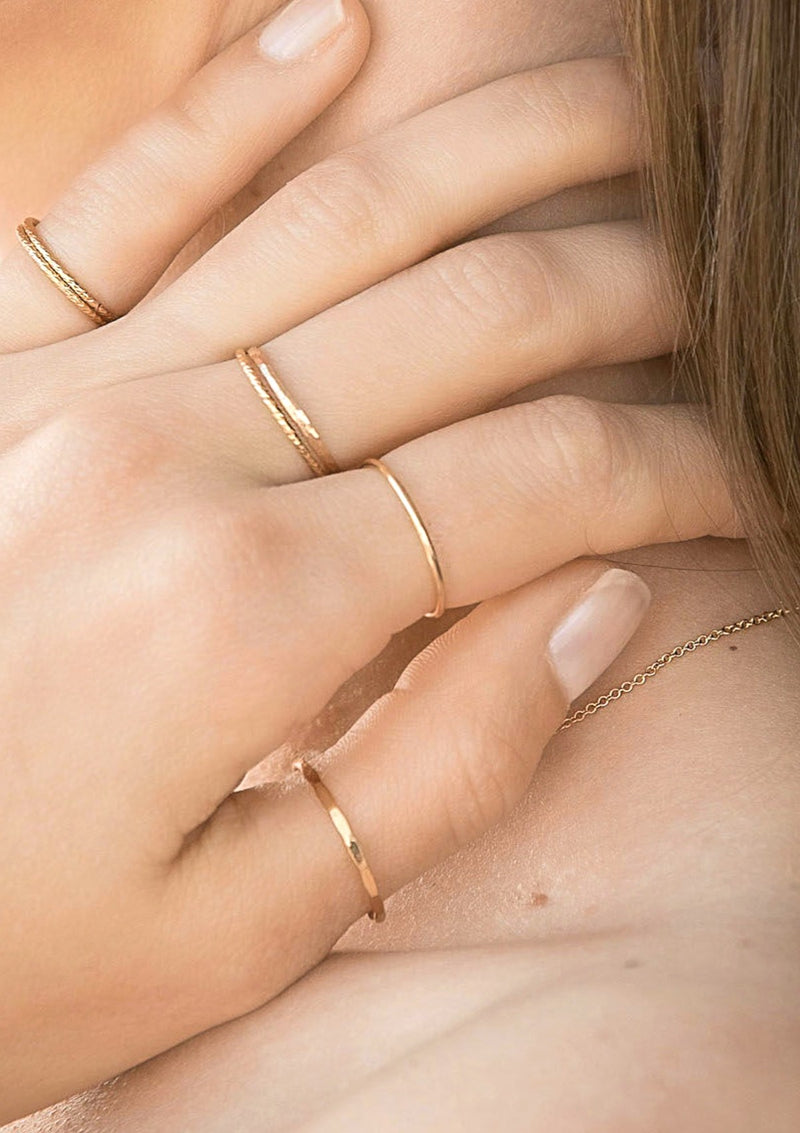 Minimalist Smooth Plain Stacking Ring