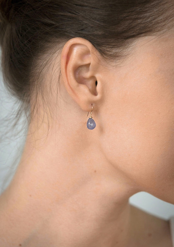Tanzanite Simple Drop Earrings