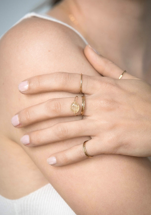 Rutile Quartz Daily Serenity Ring