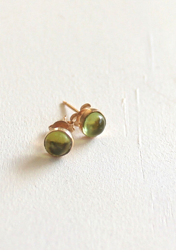 Peridot Round Stud Earrings