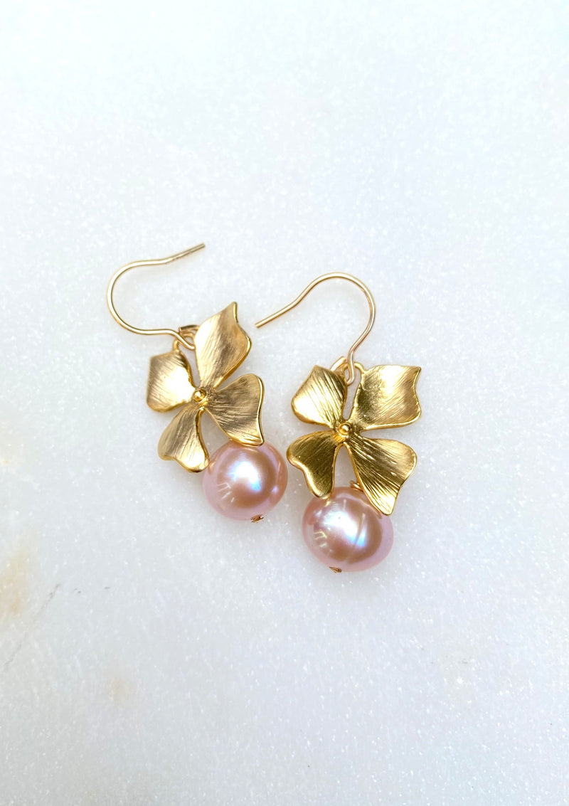 Mini Floral Pearl Earrings