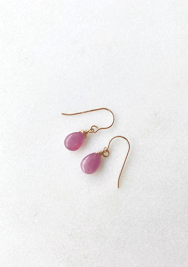 Ruby Simple Drop Earrings
