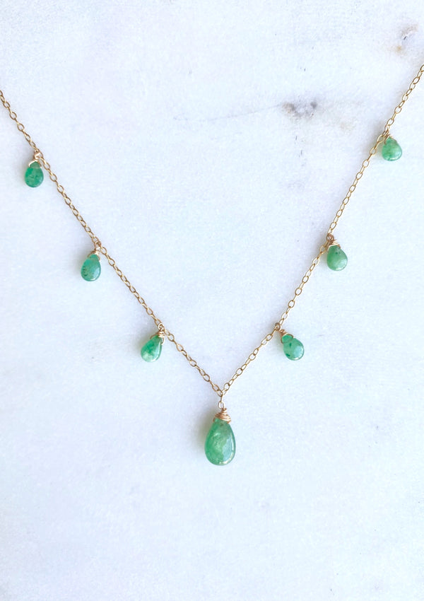 Emerald Necklace by ERIJEWELRY