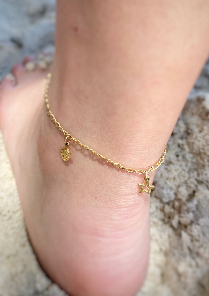 Multi Happy Charm Anklet
