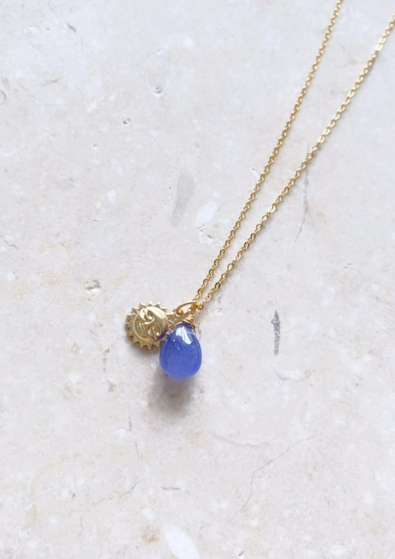 Tanzanite Simple Drop Necklace