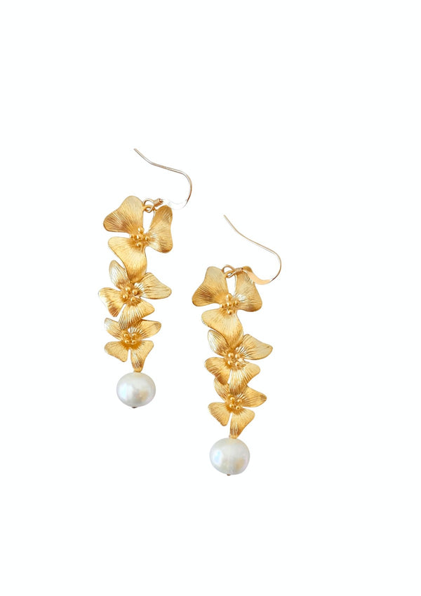Floral Pearl Gorgeous Earrings