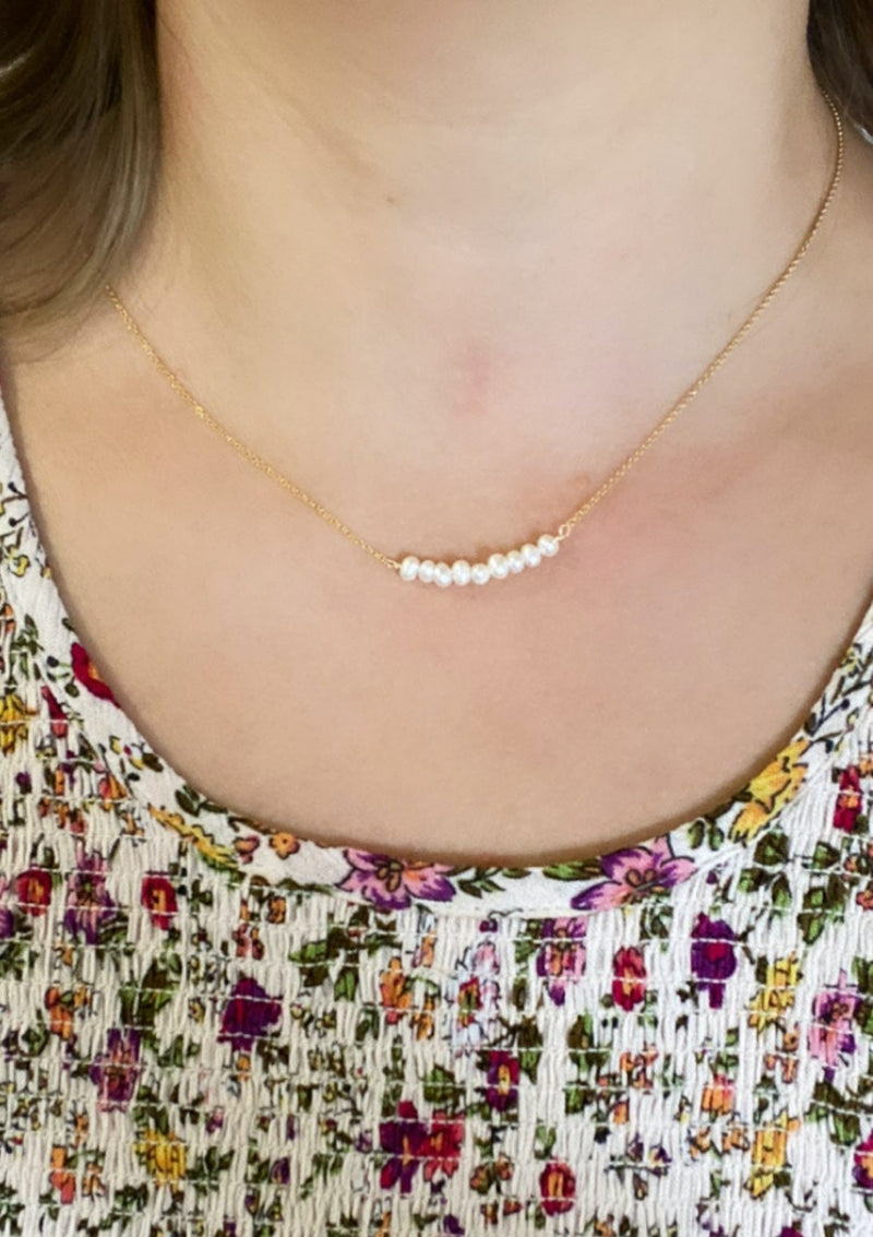 Freshwater Pearl Band Necklace