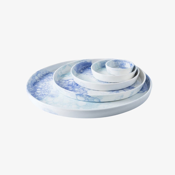 Bubble Plate | Blue and Blue Plate R L Foote Design Studio