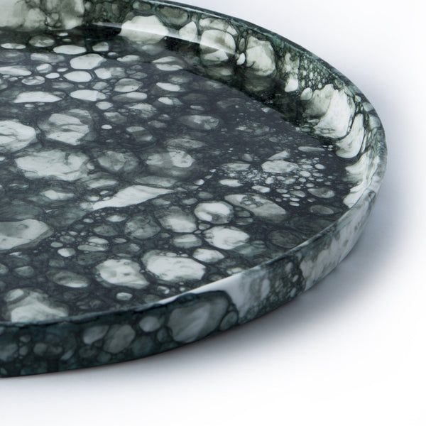 Bubble Plate | Dark Green Plate R L Foote Design Studio