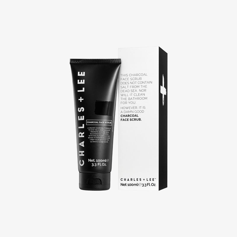 Charcoal Face Scrub 100ml Face Scrub Charles and Lee