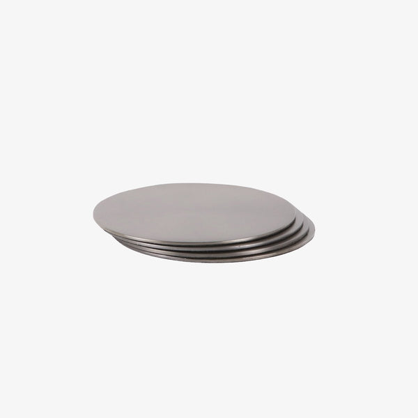 Circle Coasters | Black Nickel | Set of 4 Coaster Behr & Co