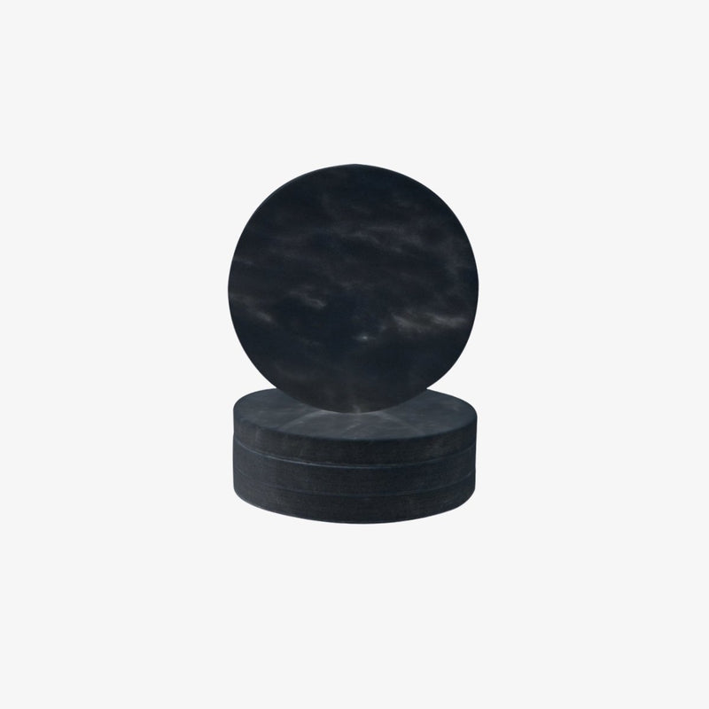 Circle Marble Coasters | Black | Set Of 4 Coaster Behr & Co